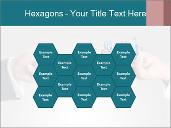 Holding smart phone PowerPoint Template - Slide 44