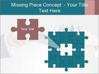 Holding smart phone PowerPoint Template - Slide 45
