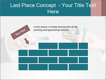 Holding smart phone PowerPoint Template - Slide 46