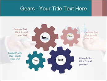 Holding smart phone PowerPoint Template - Slide 47