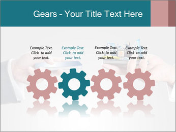 Holding smart phone PowerPoint Template - Slide 48