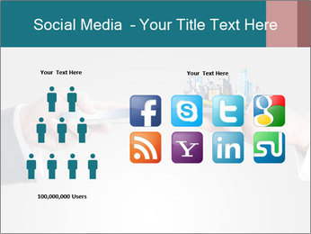 Holding smart phone PowerPoint Template - Slide 5