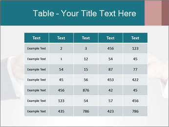 Holding smart phone PowerPoint Template - Slide 55