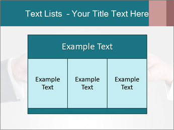 Holding smart phone PowerPoint Template - Slide 59