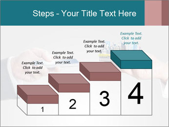 Holding smart phone PowerPoint Template - Slide 64