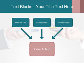 Holding smart phone PowerPoint Template - Slide 70