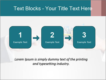 Holding smart phone PowerPoint Template - Slide 71