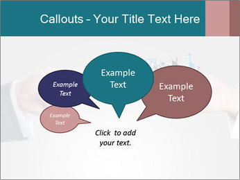 Holding smart phone PowerPoint Template - Slide 73