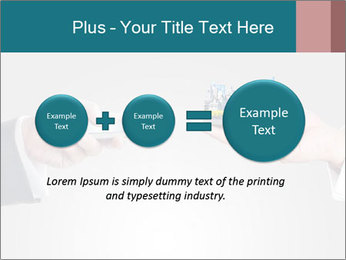 Holding smart phone PowerPoint Template - Slide 75