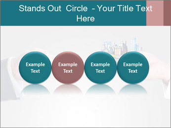 Holding smart phone PowerPoint Template - Slide 76
