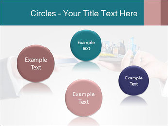 Holding smart phone PowerPoint Template - Slide 77