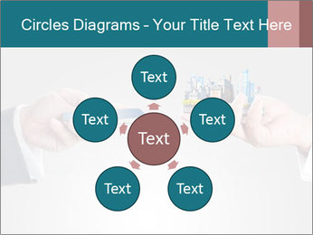 Holding smart phone PowerPoint Template - Slide 78