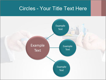 Holding smart phone PowerPoint Template - Slide 79