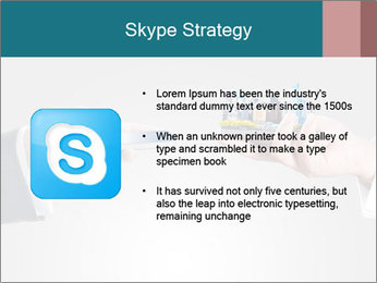 Holding smart phone PowerPoint Template - Slide 8