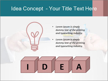 Holding smart phone PowerPoint Template - Slide 80