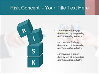 Holding smart phone PowerPoint Template - Slide 81