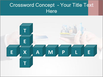 Holding smart phone PowerPoint Template - Slide 82