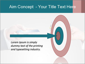 Holding smart phone PowerPoint Template - Slide 83