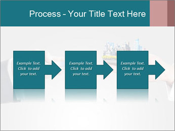 Holding smart phone PowerPoint Template - Slide 88