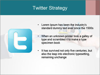 Holding smart phone PowerPoint Template - Slide 9