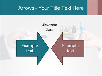 Holding smart phone PowerPoint Template - Slide 90