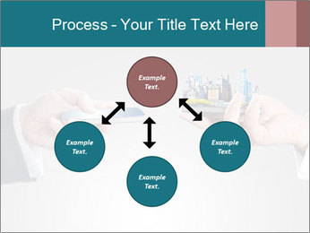 Holding smart phone PowerPoint Template - Slide 91