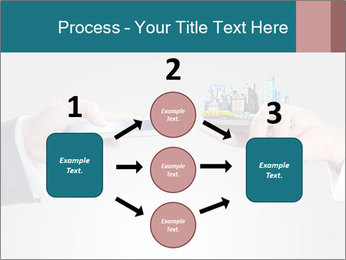 Holding smart phone PowerPoint Template - Slide 92