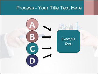 Holding smart phone PowerPoint Template - Slide 94