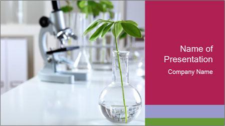Green plants PowerPoint Template