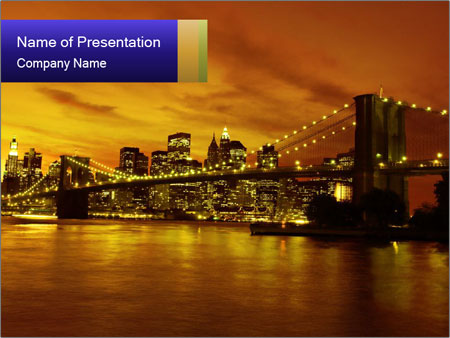 Brooklyn Bridge PowerPoint Templates