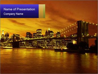 Brooklyn Bridge PowerPoint Templates - Slide 1