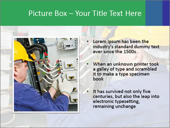 One electrician at work PowerPoint Template - Slide 13