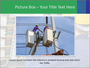 One electrician at work PowerPoint Template - Slide 16