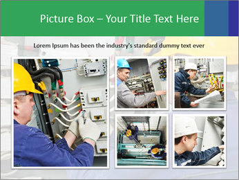 One electrician at work PowerPoint Template - Slide 19
