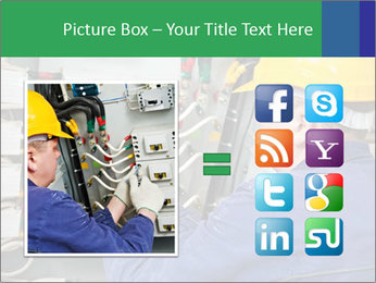One electrician at work PowerPoint Template - Slide 21