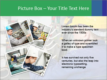 One electrician at work PowerPoint Template - Slide 23