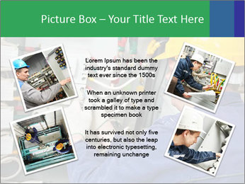 One electrician at work PowerPoint Template - Slide 24