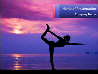Woman making yoga PowerPoint Template