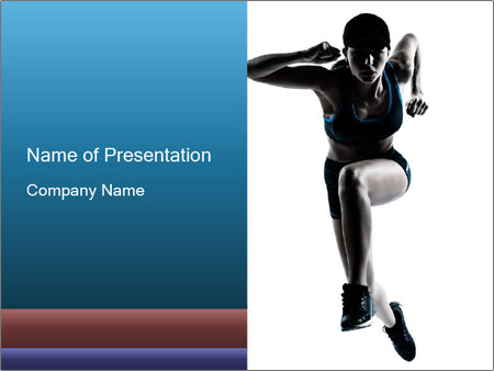 Woman jumping PowerPoint Template