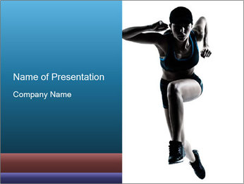 Woman jumping PowerPoint Template - Slide 1