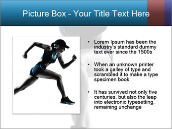 Woman jumping PowerPoint Template - Slide 13