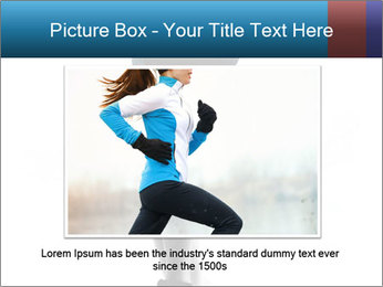 Woman jumping PowerPoint Template - Slide 15