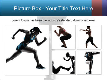 Woman jumping PowerPoint Template - Slide 19