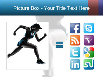 Woman jumping PowerPoint Template - Slide 21