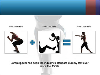 Woman jumping PowerPoint Template - Slide 22