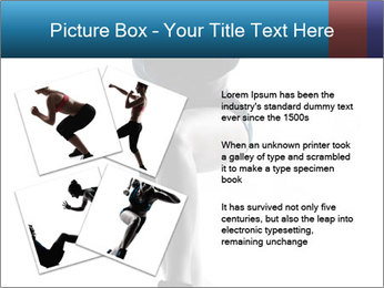 Woman jumping PowerPoint Template - Slide 23