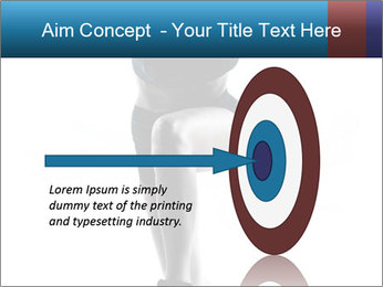 Woman jumping PowerPoint Template - Slide 83