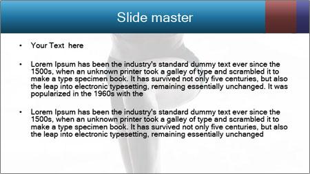 Woman jumping PowerPoint Template - Slide 2