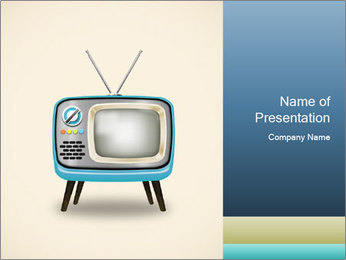 Old television PowerPoint Templates - Slide 1