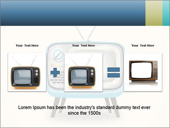 Old television PowerPoint Templates - Slide 22